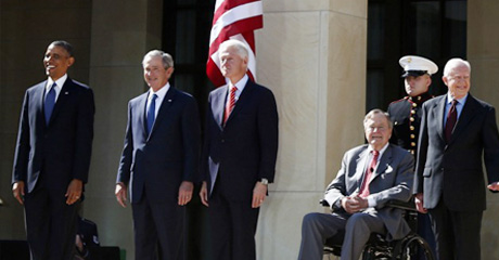Five Living Presidents Dedicate Bush Presidential Center